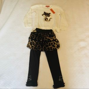 Adorable 2 piece kitty themed outfit. NWT